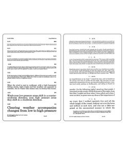 A.M.A Sentence Card - Near, 14/14 to 14/84 Eye Charts & Visual Tests