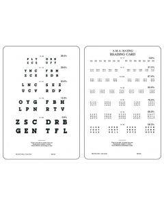 A.M.A Letter Card - Near, 14/14 to 14/244 Eye Charts & Visual Tests