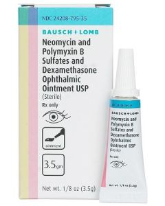 Neomycin/Polymyxin B/Dexamethasone Ointment, 3.5gm - Bausch & Lomb Seasonal Rx Specials
