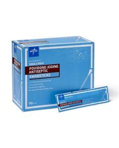 "1 Pack 4"" Povidone-Iodine Swabsticks - Medline Antiseptics"