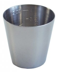 2 oz. Graduated Medicine Cup - Stainless Steel Trays and Bowls