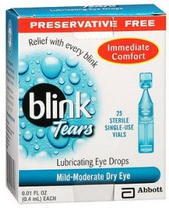 Blink Tear Drops 0.25%, 0.4mL - Preservative Free Clinical Medications & Supplies
