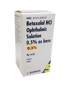 Betaxolol Drop 0.5%, 5mL Glaucoma Agents