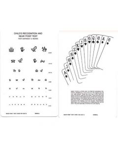 Allen Figures & Cards Test Card - Near, 20/30 to 20/200 Eye Charts & Visual Tests