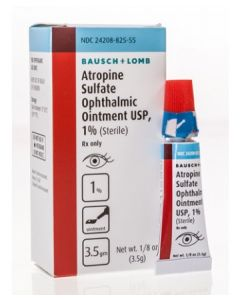 Atropine Sulfate Ointment 1%, 3.5gm Dilating Drops