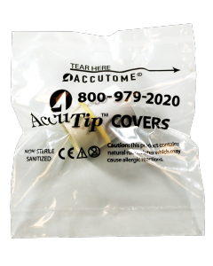 AccuTip Covers - Sleeved Individually Wrapped, Sanitized, 100 Qty