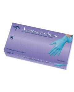 Glove Exam Nitrile Blue PF Med