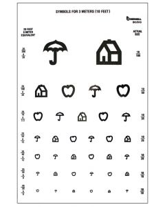 eye test chart SYMBOL 10' test