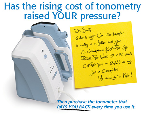Has the rising cost of tonometry raised YOUR pressure?